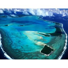 Stunning Aerial View of Aitutaki Island, Cook Islands High Quality Removable Wall Mural