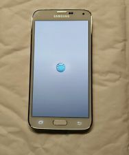 Samsung Galaxy s5 16 gb g900a at&t white factory unlocked ESN CLEAN!!