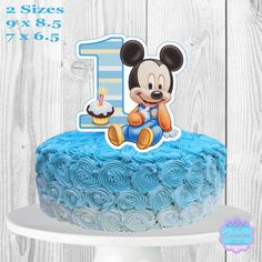 Baby Mickey Mouse Cake Topper PRINTABLE You by AvaScharlizeShop
