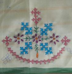 Hand Embroidery Patterns Flowers, Hand Embroidery Videos, Modern Embroidery, Hand Embroidery Designs, Kasuti Embroidery, Hand Work Design, Kutch Work Designs, Easy Sewing Projects, Tutorial