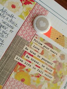 Precocious Paper: smash book. Like this layout/ kind of scrapbookish