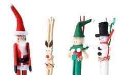 Addobbi natalizi con mollette di legno - Lavoretti con mollette di legno