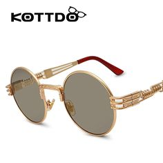 KOTTDO 2016 Men Sunglasses Luxury Round Lens Steampunk Glasses Driving Aviator Sun Glasses Eyewear Male  Lunettes De Soleil //Price: $14.34 & FREE Shipping //     #hairextension #style #beauty #woman #love