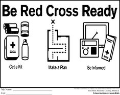 Red Cross Be Ready Coloring Pages