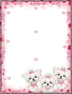 Cute Puppies Free Printable Stationery, Printable Paper, Borders For Paper, Borders And Frames, Frame Border Design, Art Carte, Paper Frames, Graph Paper, Stationery Paper