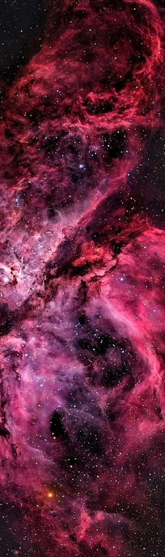 The Carina Nebula (catalogued as NGC 3372; also known as the Grand Nebula, Great Nebula in Carina, or Eta Carinae Nebula) is a large, complex area of bright and dark nebulosity in the constellation Carina, and is located in the Carina–Sagittarius Arm. The nebula lies at an estimated distance between 6,500 and 10,000 light-years (2,000 and 3,100 pc) from Earth