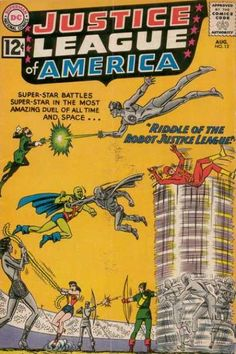 Riddle Of The Robot Justice League - Duels - Wonder Woman - Flash Gordon - Green Lantern - Murphy Anderson