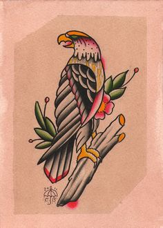 Traditional Eagle Tattoo Flash | KYSA #ink #design #tattoo