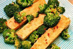 Three-Way Sesame Coated Tofu with Broccoli