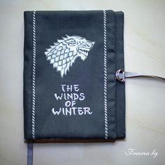 A Direwolf , House Stark, Fabric book cover