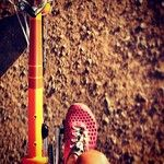 Ladies VIVOBAREFOOT Ultra in Crimson. Getting out and about on the bikes.