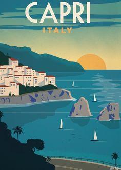 Alex247 Art print Capri