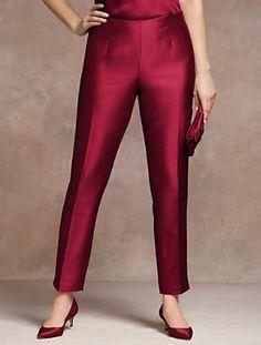 Talbots - Signature Fit Doupioni Ankle Pant   Aisle Style   Woman