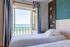 Hotel Kyriad Saint Malo Plage . Chambre double confort vue sur mer