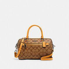 Coach Handbags, Purses And Handbags, Coach Outlet, Rowan, Smooth Leather, Satchel, Honey, Zip, Canvas