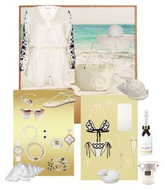 """White beach"" by byvette on Polyvore featuring mode, Zoffany, Balenciaga, Anna Kosturova, Pampelone, Athena Alexander, Nine West, Oasis, LSA International en Moët & Chandon"