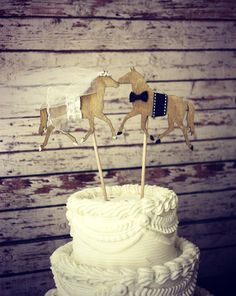 Horse wedding cake topper-Horse lover-horse by MorganTheCreator