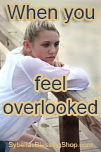 When You Feel Overlooked - Do you feel overlooked? Do you ever feel like you don't matter or others don't value what you have to say or do? I know it can be very painful. The enemy loves to attack us with this and make … Read More at https://www.sybellasblessingshop.com/when-you-feel-overlooked/