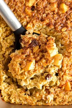 Baked Apple Oatmeal | A Taste of Madness