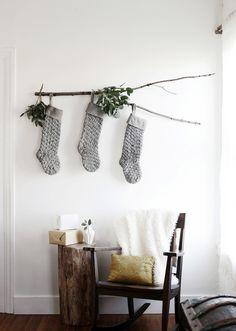 Branch + Christmas Stockings