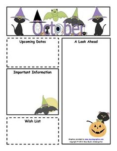 October Monthly Newsletter Template - Customizable