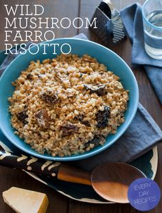 Wild Mushroom Farro Risotto - from Spoon Fork Bacon (new fav blog!)