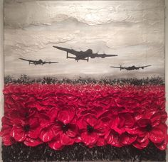 Remembrance Day art by Jacqueline Hurley Painting 'Raid Of Remembrance From The War Poppy Collection Remembrance Day Pictures, Remembrance Day Poppy, War Tattoo, Tattoo Arm, Armistice Day, Poppies Tattoo, Anzac Day, Military Art, Military History