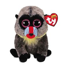 Wasabi The Baboon Medium is a big-eyed beanie boo that s perfect to snuggle  up e4020f14dae3