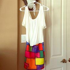 Super cute mini dress from ya ya's boutique! Super cute mini dress from ya ya's boutique! Sz small. It has an open back  very summery. Nwot. Never worn Ya Ya's boutique Dresses Mini