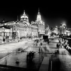 Big City Nightscapes – B/W-Photography (21 Photos) > Baukunst, Film-/ Fotokunst, Illustrationen > cities, Fotografie, nightscape, sw, skylines