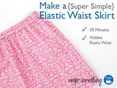 Beginner Sewing: Make an Easy Elastic Waist Skirt using Dritz sewing supplies and elastic.