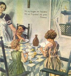 Ni un hogar sin lubre Ni un Espanol sin pan, Franco - Not a home without fire Not a Spanish without bread Franco Ww2 Propaganda Posters, Political Posters, Spanish War, Spanish Posters, Web Support, Web Design Packages, Military History, Civilization, The Past