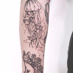 """""""Studio Ghibli tattoos are so fun to tattoo 🐉🌸"""" Dragon Sleeve Tattoos, Tribal Sleeve Tattoos, Tribal Tattoo Designs, Hawaiian Tribal Tattoos, Samoan Tribal Tattoos, Tattoo Artists Sydney, Spirited Away Tattoo, Beatles Tattoos, Studio Ghibli Tattoo"""