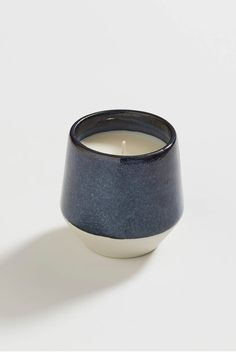 Hand made ceramic jar, hand poured soy wax. Shop the Ceramic Candle indigo online now. Ceramic Candle Holders, Ceramic Jars, Ceramic Clay, Ceramic Pottery, Candles For Less, Fancy Candles, Candle Containers, Candle Jars, Photo Candles