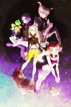 The Titan Girls! Raven, Starfire, Terra and Jinx