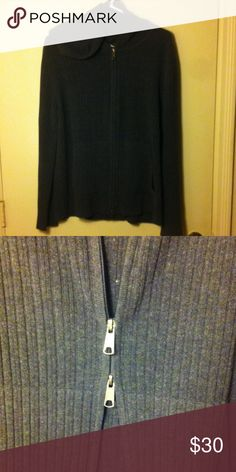 EXPRESS Charcoal Gray Hoodie Express charcoal gray hoodie with pockets and a double zipper. Great condition. Express Tops Sweatshirts & Hoodies