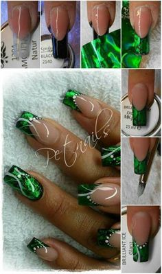 Important Things You Should Know About Acrylic Nails – NaiLovely Foil Nail Art, Foil Nails, Acrylic Nail Art, Sexy Nails, Cute Nails, Pretty Nails, Nails Ideias, Uñas One Stroke, Nail Art Designs