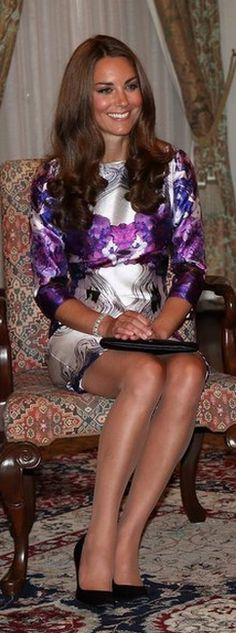 Princess Kate in a lovely dress looking very nice~ A stunning young lady!