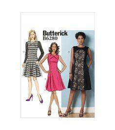 Butterick Pattern B6280-E50-Misses'/Misses' Petite Dress-14-16-18-20-22