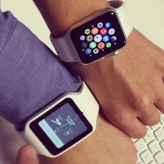 Technology makes us happy playing with our Apple Watch and Sony SmartWatch3 for new applications!  #technology #happy #apple #watch #applewatch #new #app #application #development #sonysmartwatch3 by paymet_ltd