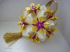 Master class Kusudama: Esfera Estrella Flor + MK Resto do papel. Foto 2