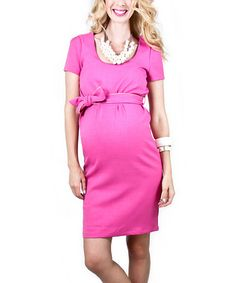 This would be cute if it were a bit longer in length and in the sleeves and the neckline was a bit higher.- Rose Balfour Maternity Dress - Women by Madeleine Maternity