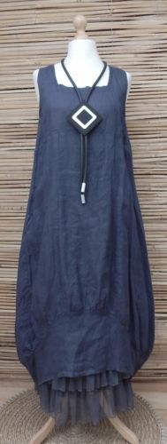 LAGENLOOK-LINEN-AMAZING-STRIPED-BALLOON-2-POCKETS-LONG-DRESS-NAVY-BUST-UP-TO-46-034