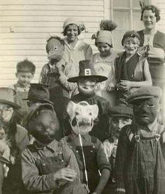Kids vintage Halloween costumes. Very scary.