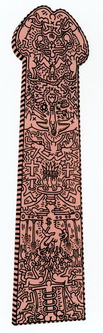 The Great White Way, 1988  Acrylic on Canvas  168 x 45 inches Keith Haring Art, Keith Allen, Jean Michel Basquiat, Graffiti Art, All Art, American Artists, Sculpture Art, Bad Painting, Erotic Art