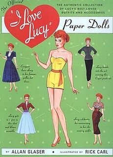 I Love Lucy    Can you believe it? Paper Dolls!!!