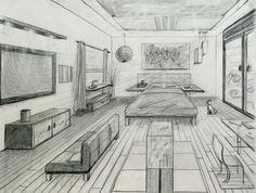 1-pt perspective room