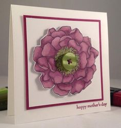 Blended Razzleberry Bloom for Mother's Day by TooManyCats - Cards and Paper Crafts at Splitcoaststampers