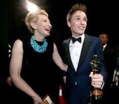 Pin for Later: Die 55 besten Bilder der Oscars 2015 Cate Blanchett und Eddie Redmayne