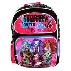 Monster High Backpack | 16 in School Bag Purple | @ Sunset Jungle